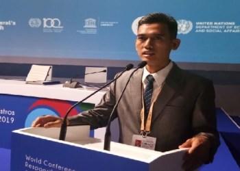 Asrorun Niam di pertemuan Menteri Pemuda se-dunia. Foto: Rhio/Islampos