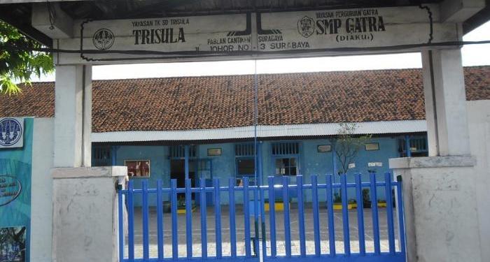 SMP Gatra hanya mendapatkan 2 siswa. Foto: Beritao