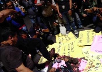 Aksi solidaritas jurnalis di Jakarta. Foto: detikcom