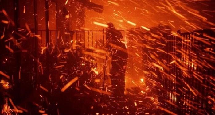 Badai api di California AS menelan korban jiwa. Foto: CNN