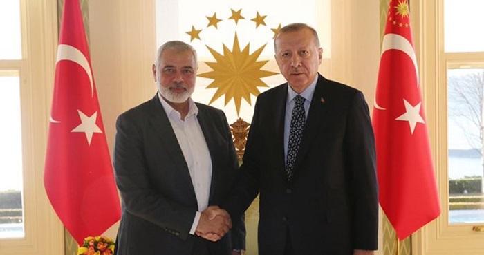 Ismail Haniyah bertemu Erdogan. Foto: PIC