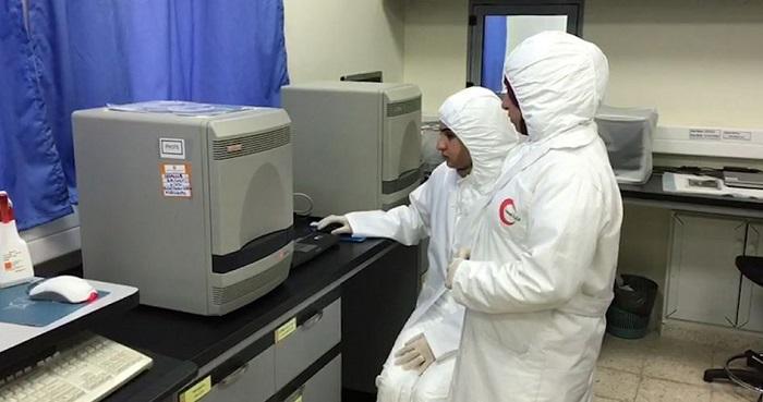 Laboratorium di Gaza berhenti lakukan pengujian sampel virus Corona. Foto: PIC