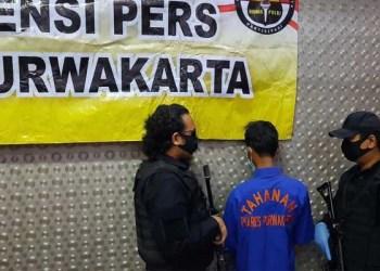 Pelaku terduga pembacokan. Foto: ayopurwakarta.com