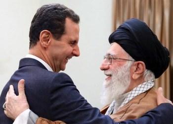 Presiden Suriah Bashar Al-Assad (kiri) dan Pemimpin Tertinggi Ayatollah Ali Khamenei di Teheran. Foto: Memo