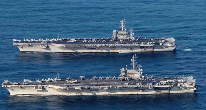 2 kapal induk AS gelar latihan militer di Laut Cina Selatan. Foto: Wall Street Journal