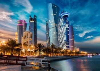 Pemandangan malam Doha, Qatar. Foto: Fragomen