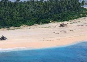 3 pria diselamatkan dari pulau terpencil. Foto: Alarabiya