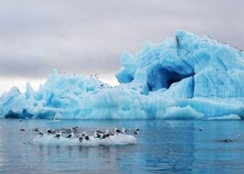 Es di kutub terus mencair akibat krisis iklim. Foto: News Deeply