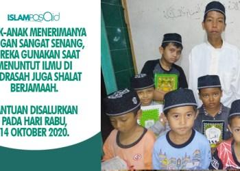 Alhamdulillah, 15 Kopiah Diserahkan IslamposAid ke Anak-anak Madrasah di Banten 1