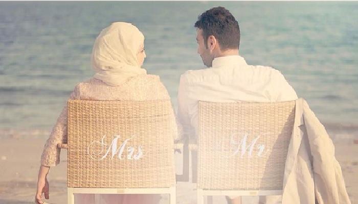 pria dan wanita pasangan menikah pengantin suami sitri