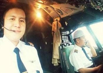Foto: Capt Afwan, pilot pesawat Sriwijaya Air SJ182 (kanan). (Twitter