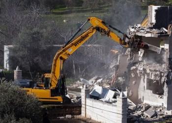 Eksavator Israel hancurkan rumah warga Palestina. Foto: WAFA