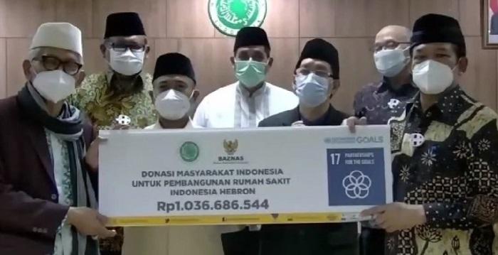 Baznas serahkan bantuan Rp 1,036 M ke MUI. Foto: MUI