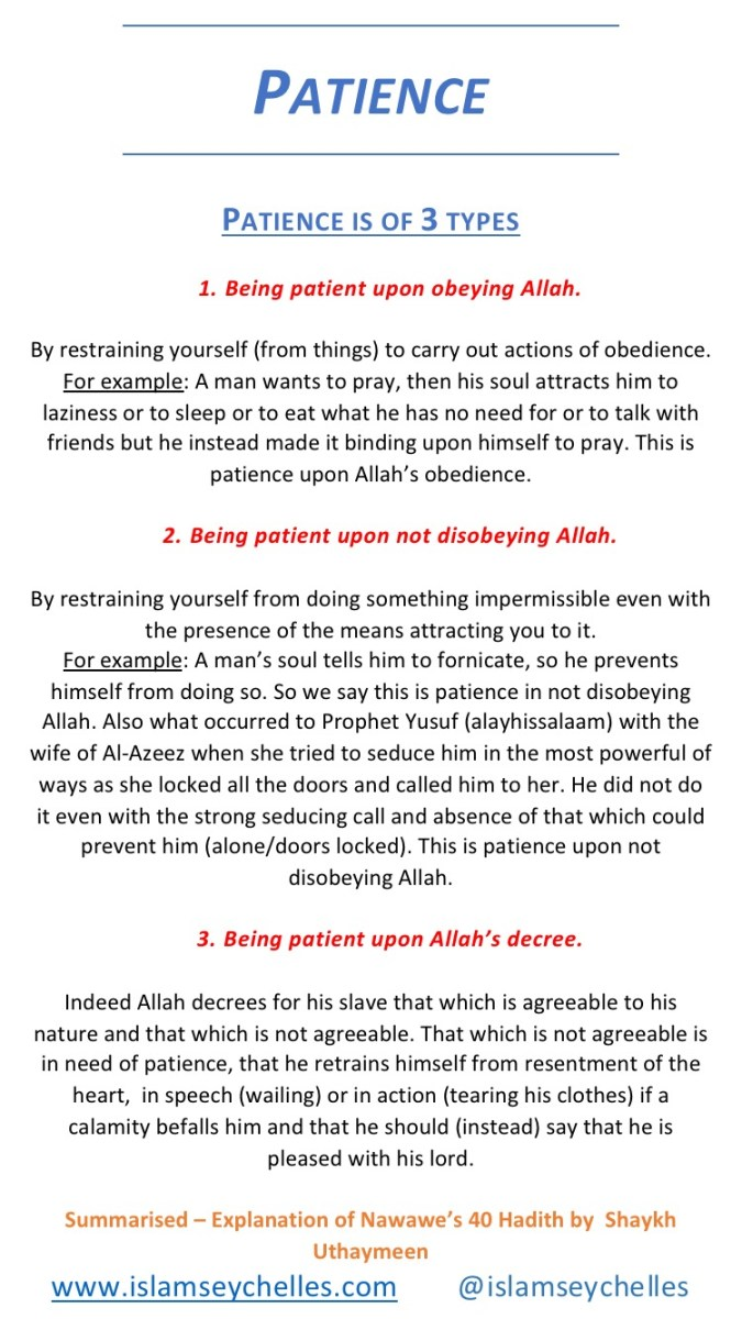 The 3 types of Patience