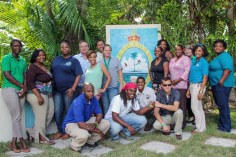 Participants in a workshop held in Nassau to develop a communications and outreach plan related to the park proposal