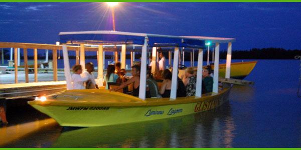 luminous lagoon glistening waters boat