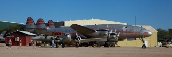 Lockheed L-049 Constellation in TWA colors
