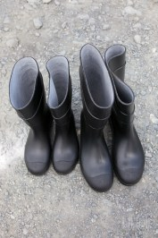 Our new rubber boots