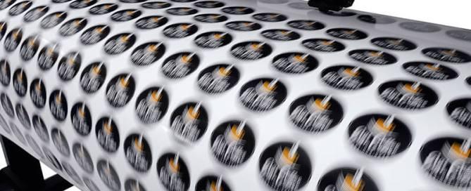 A Printer Printing Stickers