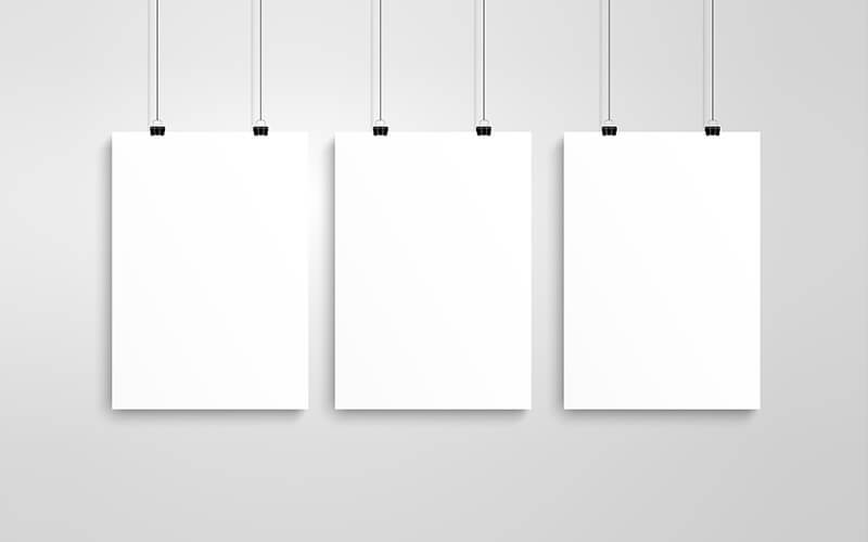 Three Blank Posters