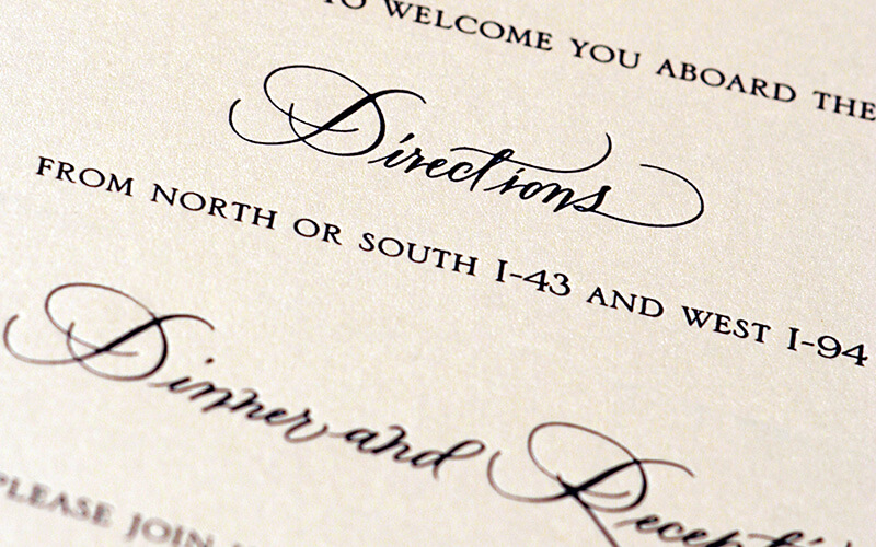A Close Up Of An Invitation