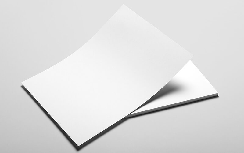 Blank Sheets Of At Letterheads