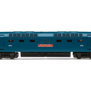 RailRoad, BR, Class 55, Co-Co, 9010 'The King's Own Scottish Borderer' - Era 5