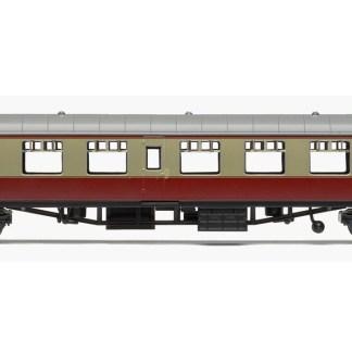 RailRoad, BR, Mk.1 Tourist Second Open Coach, BR Carmine & Cream -Era 4