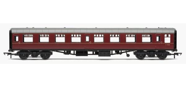 RailRoad, BR, Mk.1 Tourist Second Open Coach, BR Maroon - Era 5