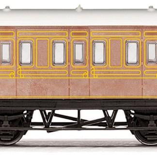 RailRoad, LNER, 4 wheel Coach - Era 3