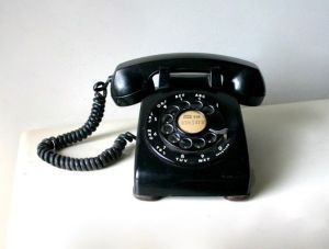 photograph of old rotary dial phone