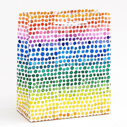 rainbow watercolor bag
