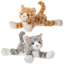 image of orange fabfuzz waffles kitten and gray fabfuzz waffles kitten by mary meyer toys