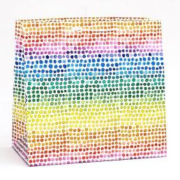 rainbow watercolor dot bag