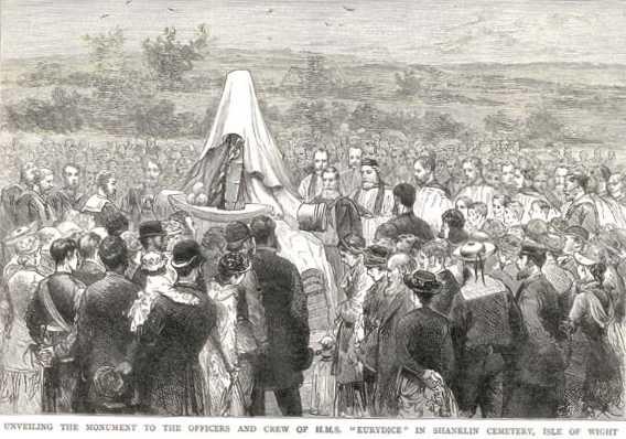 Shanklin Cemetery : HMS Eurydice Memorial - Unveiling 1880