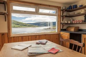 Carna cottage fully equipped kitchen with wonderful loch views