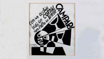 Fortunato Depero's Distrattamente mise il Bitter Campari in testa (1928). Courtesy Estorick Collection of Modern Italian Art