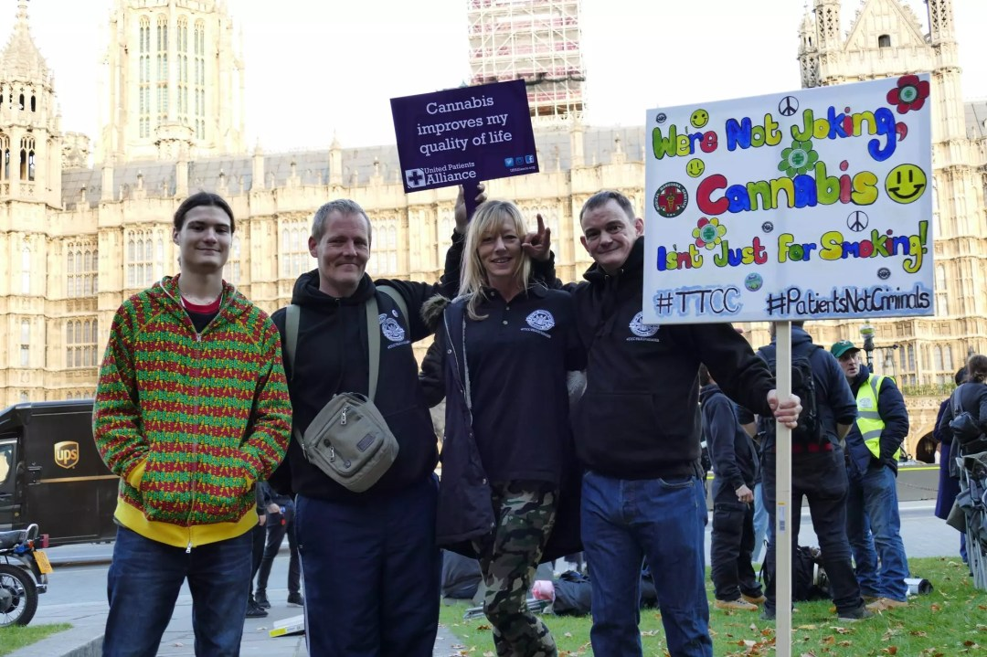 , Cannabis is medicine: Patients at Parliament Protest Part 1 October 2017, ISMOKE