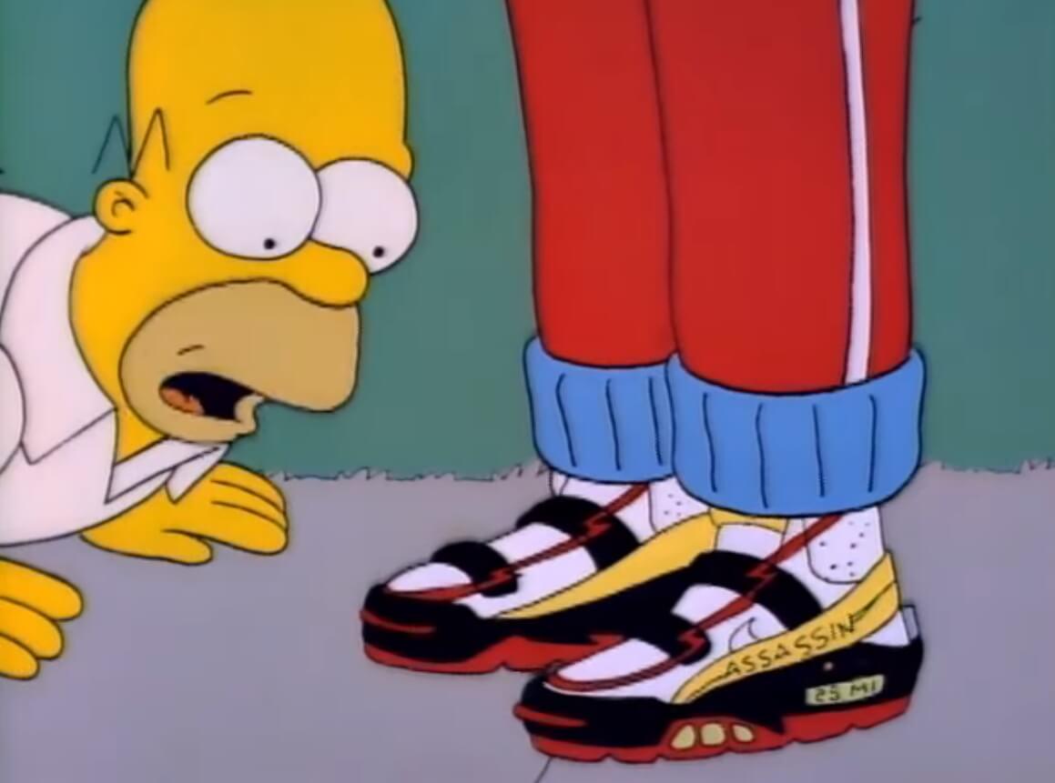 """Si eres fan de Los Simpson, estos Nike """"Assassin"""" son las zapatillas que estabas esperando"""