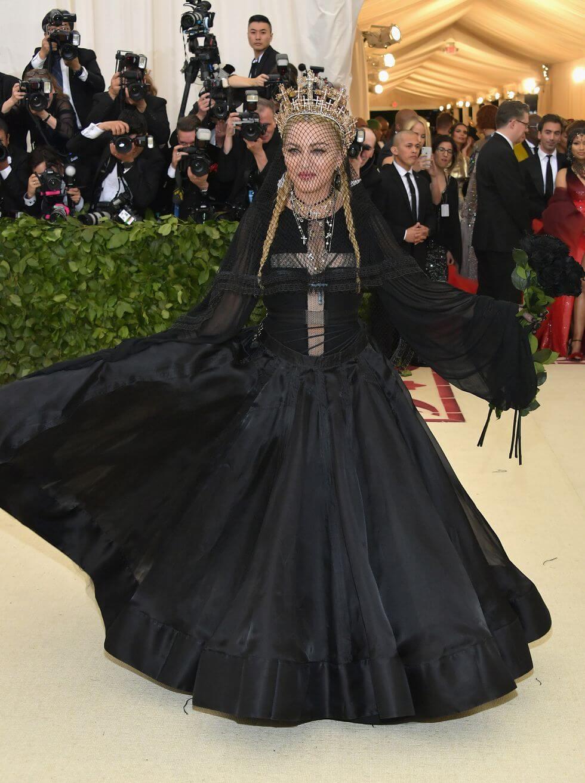 Madonna en la Met Gala 2018. Fotografía: Getty