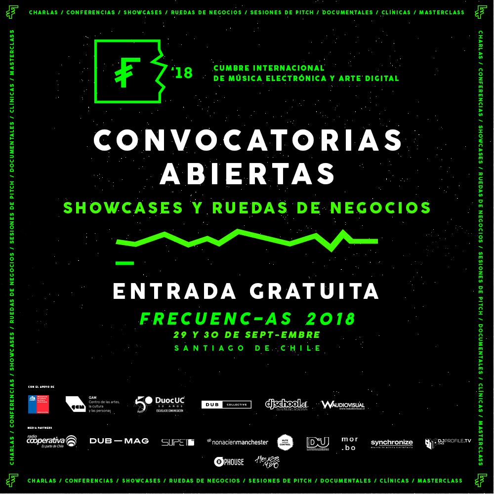Poster oficial Convocatorias Frecuencias 2018.