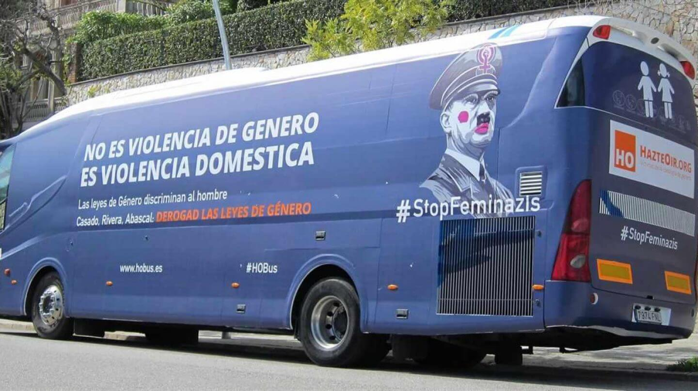 #StopFeminazis: Ultracatólicos lanzan en España un nuevo autobús contra las leyes de violencia de género