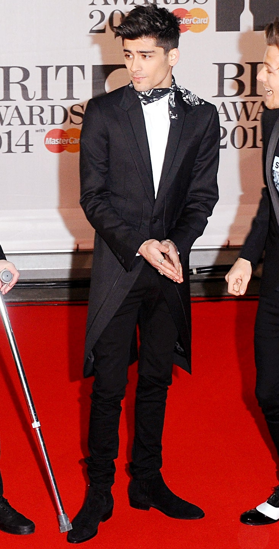 Zayn Malik en los BRIT Awards de 2014. Fotografía: Anthony Harvey/Getty Images