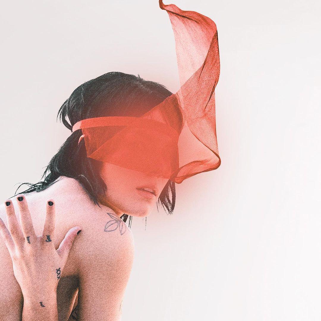 """Halsey en la portada de la edición deluze de su libro """"I Would Leave Me If I Could"""". Fotografía: Instagram @iamhalsey"""