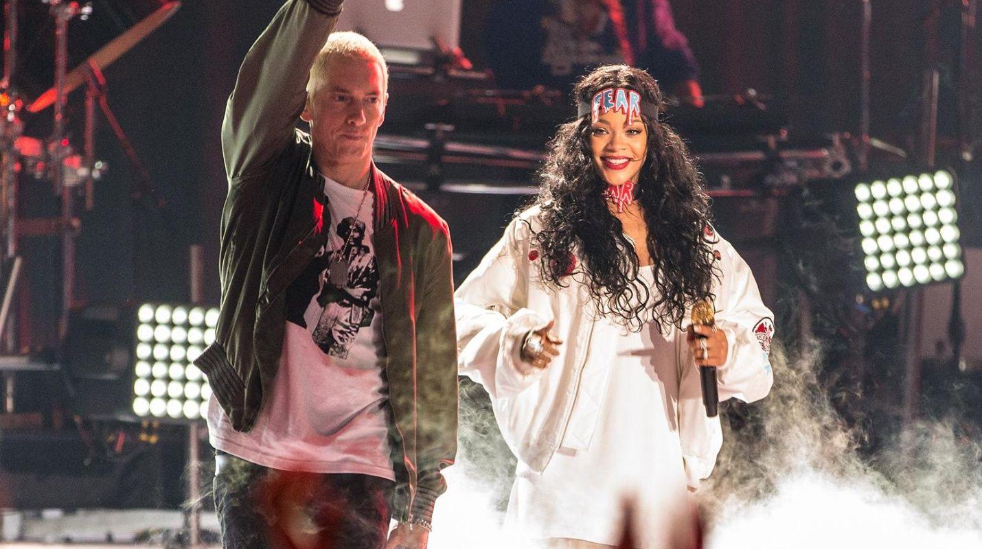 Eminem le pide a disculpas a Rihanna por ponerse a favor de Chris Brown