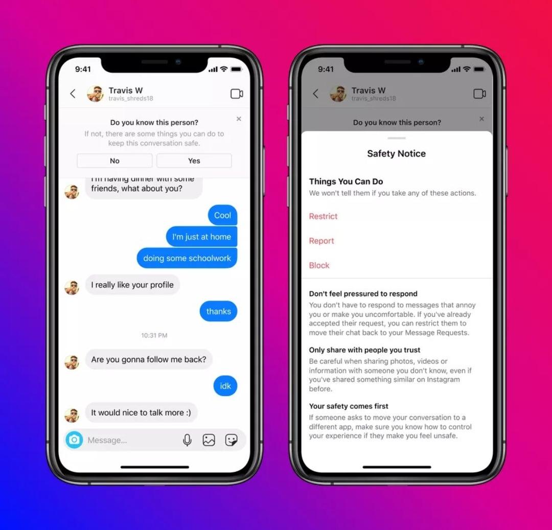 Los adultos ya no podrán enviar mensajes a adolescentes en Instagram tras nuevas medidas