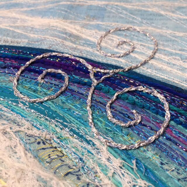 I'm putting the finishing touches to the last lessons in Celtic Seascapes!   I've had so much fun with this one - not only my favourite colour, but my favourite places are the inspiration, and I just love Celtic knots and symbols! The Triskel is a particular favourite; you'll see it all over Brittany.  More news to come on dates VERY soon - meanwhile loads of info is already available on the course page. There's a link in my bio to the info, and also to sign up to my newsletter so you're in the loop.  Not long now! I just need to go and gather a bit more source material 😉