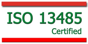 ISO 13485 for medical devices and related services.