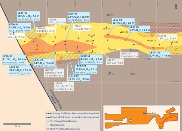 Western Hurricane Zone Drill Hole Location Map