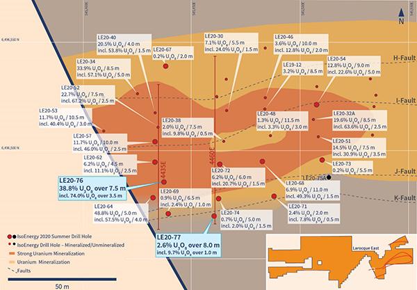 Hurricane Zone Drill Hole Location Map